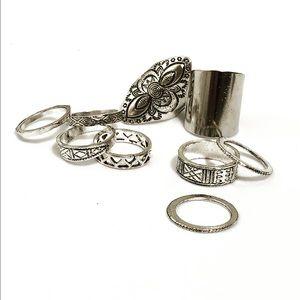 9pc Boho Ring Set